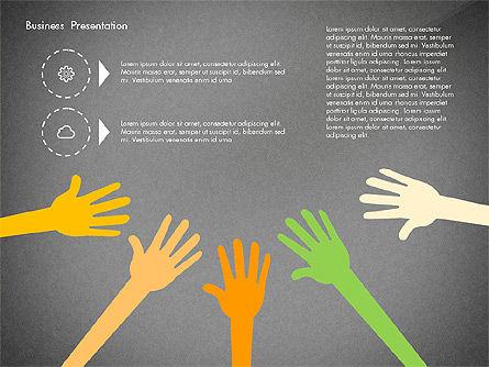 Creative Pitch Deck Presentation Template, Slide 13, 02850, Shapes — PoweredTemplate.com