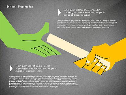 Creative Pitch Deck Presentation Template, Slide 14, 02850, Shapes — PoweredTemplate.com