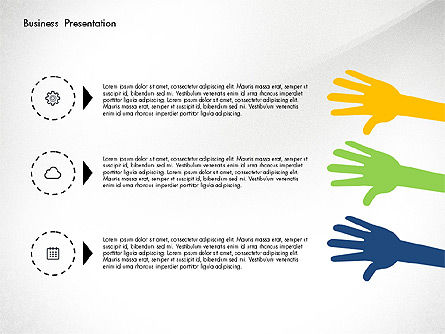 Creative Pitch Deck Presentation Template, Slide 2, 02850, Shapes — PoweredTemplate.com