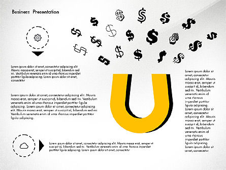 Creative Pitch Deck Presentation Template, Slide 4, 02850, Shapes — PoweredTemplate.com