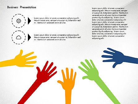 Creative Pitch Deck Presentation Template, Slide 5, 02850, Shapes — PoweredTemplate.com