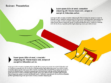 Creative Pitch Deck Presentation Template, Slide 6, 02850, Shapes — PoweredTemplate.com