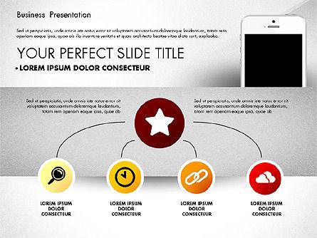 Presentation Templates: Concept de présentation de rapports commerciaux #02851
