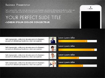 Business Report Presentation Concept, Slide 10, 02851, Presentation Templates — PoweredTemplate.com