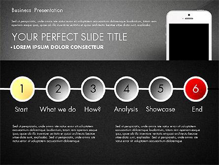 Business Report Presentation Concept, Slide 12, 02851, Presentation Templates — PoweredTemplate.com