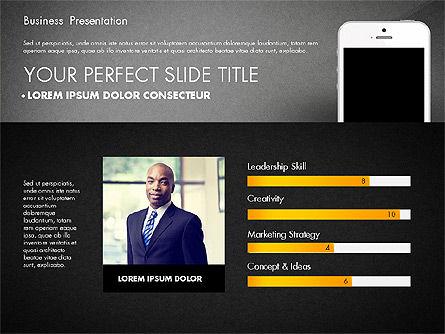 Business Report Presentation Concept, Slide 14, 02851, Presentation Templates — PoweredTemplate.com