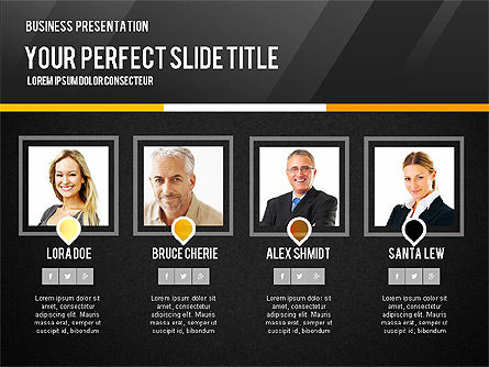 Vivid Business Presentation, Slide 15, 02853, Presentation Templates — PoweredTemplate.com