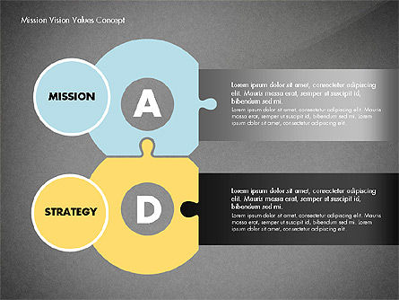 Mission, Vision and Core Values Concept, Slide 10, 02854, Business Models — PoweredTemplate.com