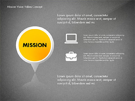 Mission, Vision and Core Values Concept, Slide 11, 02854, Business Models — PoweredTemplate.com