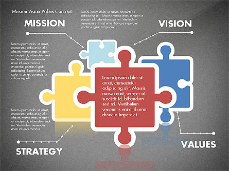 Mission, Vision and Core Values Concept, Slide 12, 02854, Business Models — PoweredTemplate.com
