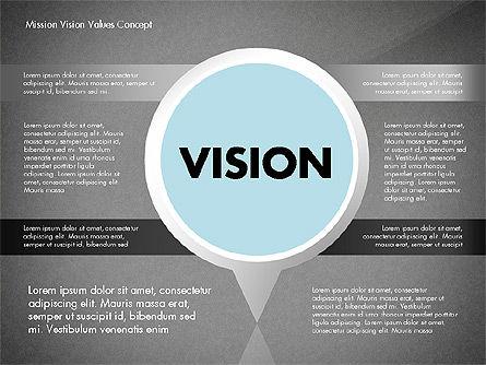 Mission, Vision and Core Values Concept, Slide 13, 02854, Business Models — PoweredTemplate.com