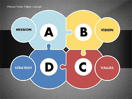 Mission, Vision and Core Values Concept, Slide 15, 02854, Business Models — PoweredTemplate.com