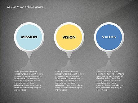 Mission, Vision and Core Values Concept, Slide 16, 02854, Business Models — PoweredTemplate.com