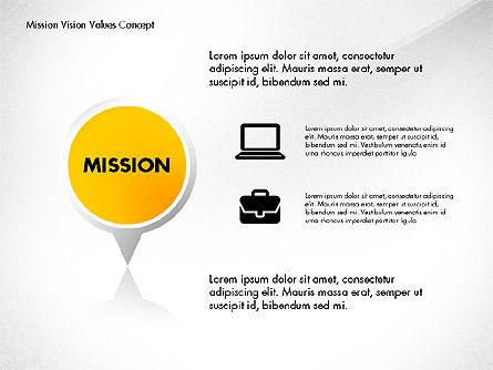 Mission Vision and Core Values Concept, Slide 3, 02854, Business Models — PoweredTemplate.com