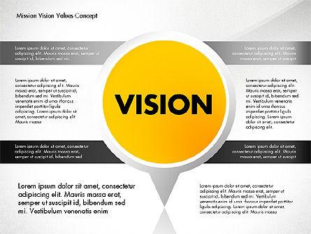 Mission, Vision and Core Values Concept, Slide 5, 02854, Business Models — PoweredTemplate.com