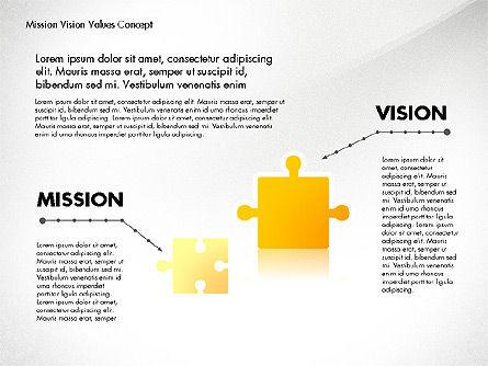 Mission, Vision and Core Values Concept, Slide 6, 02854, Business Models — PoweredTemplate.com