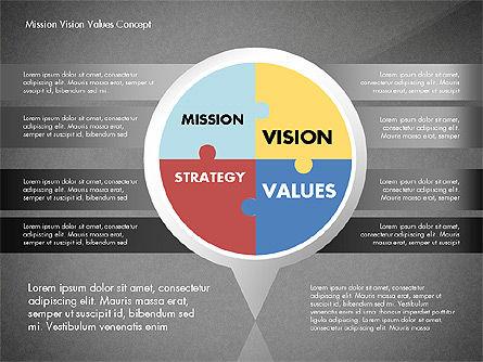 Mission, Vision and Core Values Concept, Slide 9, 02854, Business Models — PoweredTemplate.com