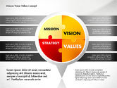 Business Models: Mission, Vision and Core Values Concept #02854