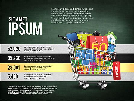 Shopping and Sale Infographics Toolbox, Slide 12, 02855, Infographics — PoweredTemplate.com