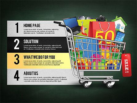 Shopping and Sale Infographics Toolbox, Slide 13, 02855, Infographics — PoweredTemplate.com