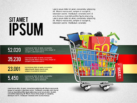 Shopping and Sale Infographics Toolbox, Slide 4, 02855, Infographics — PoweredTemplate.com