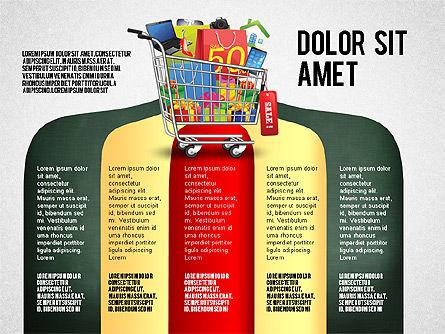 Shopping and Sale Infographics Toolbox, Slide 6, 02855, Infographics — PoweredTemplate.com