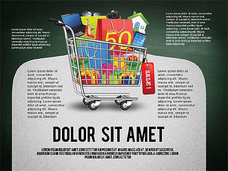 Shopping and Sale Infographics Toolbox, Slide 9, 02855, Infographics — PoweredTemplate.com
