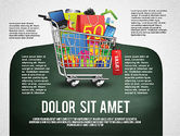 Infographics: Shopping and Sale Infographics Toolbox #02855