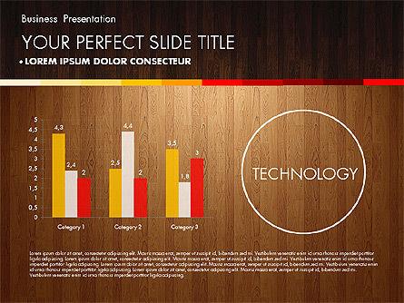Business Presentation on Chalk Board, Slide 11, 02857, Presentation Templates — PoweredTemplate.com