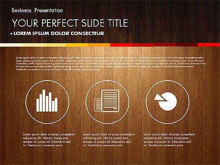 Business Presentation on Chalk Board, Slide 14, 02857, Presentation Templates — PoweredTemplate.com