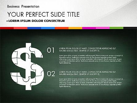 Business Presentation on Chalk Board, Slide 2, 02857, Presentation Templates — PoweredTemplate.com