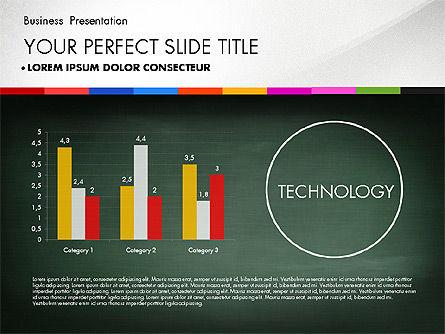Business Presentation on Chalk Board, Slide 3, 02857, Presentation Templates — PoweredTemplate.com