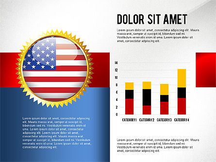 USA Quality Infographic Concept, 02858, Infographics — PoweredTemplate.com