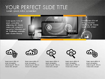 Cloud Services Infographics, Slide 10, 02862, Presentation Templates — PoweredTemplate.com