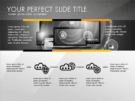 Cloud Services Infographics, Slide 14, 02862, Presentation Templates — PoweredTemplate.com