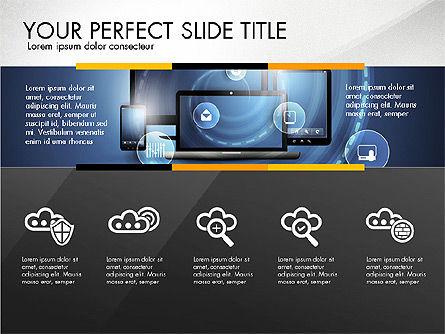 Cloud Services Infographics, Slide 2, 02862, Presentation Templates — PoweredTemplate.com