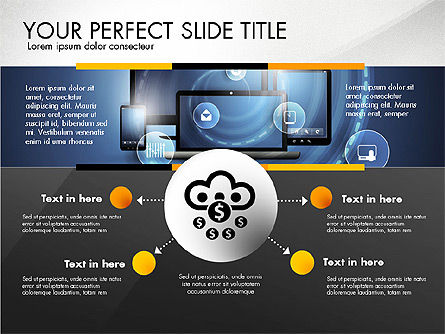 Cloud Services Infographics, Slide 4, 02862, Presentation Templates — PoweredTemplate.com