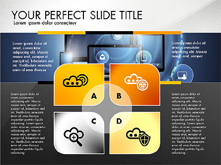 Cloud Services Infographics, Slide 8, 02862, Presentation Templates — PoweredTemplate.com