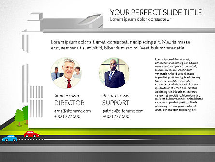 Business Center Presentation, 02863, Presentation Templates — PoweredTemplate.com