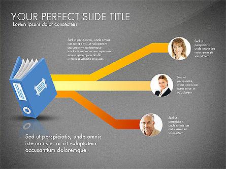 Ledger Book Concept, Slide 10, 02864, Stage Diagrams — PoweredTemplate.com