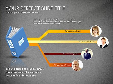 Ledger Book Concept, Slide 11, 02864, Stage Diagrams — PoweredTemplate.com