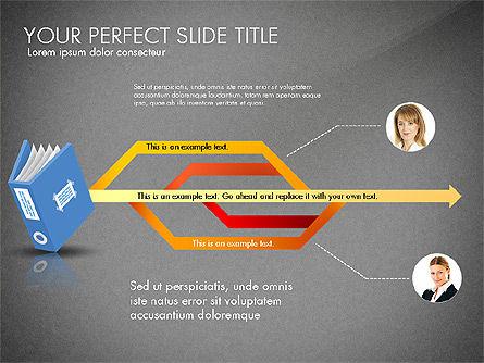 Ledger Book Concept, Slide 12, 02864, Stage Diagrams — PoweredTemplate.com