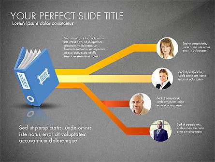 Ledger Book Concept, Slide 13, 02864, Stage Diagrams — PoweredTemplate.com