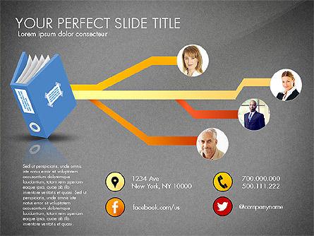 Ledger Book Concept, Slide 14, 02864, Stage Diagrams — PoweredTemplate.com