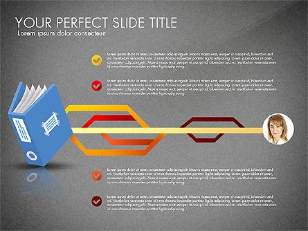 Ledger Book Concept, Slide 15, 02864, Stage Diagrams — PoweredTemplate.com