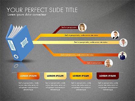 Ledger Book Concept, Slide 16, 02864, Stage Diagrams — PoweredTemplate.com