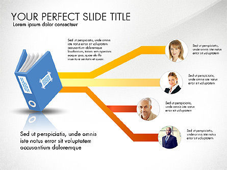 Ledger Book Concept, Slide 5, 02864, Stage Diagrams — PoweredTemplate.com
