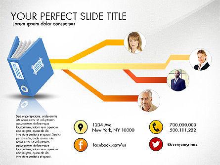 Ledger Book Concept, Slide 6, 02864, Stage Diagrams — PoweredTemplate.com