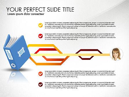 Ledger Book Concept, Slide 7, 02864, Stage Diagrams — PoweredTemplate.com