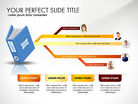 Ledger Book Concept, Slide 8, 02864, Stage Diagrams — PoweredTemplate.com